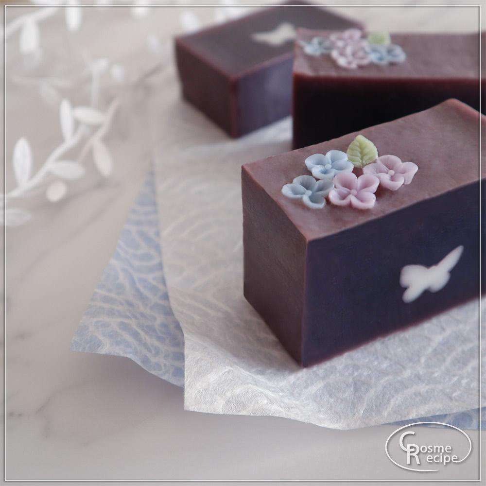 紫紺と紫陽花コンフェの手作り石けん講座のご案内
