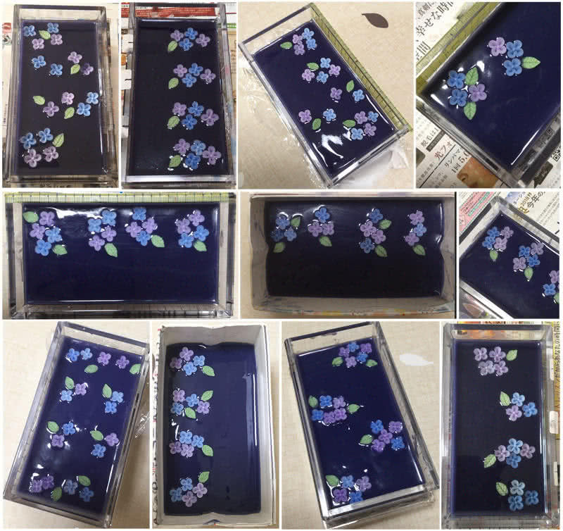 紫根と紫陽花コンフェの手作り石けん講座 レッスンレポ 1枚目