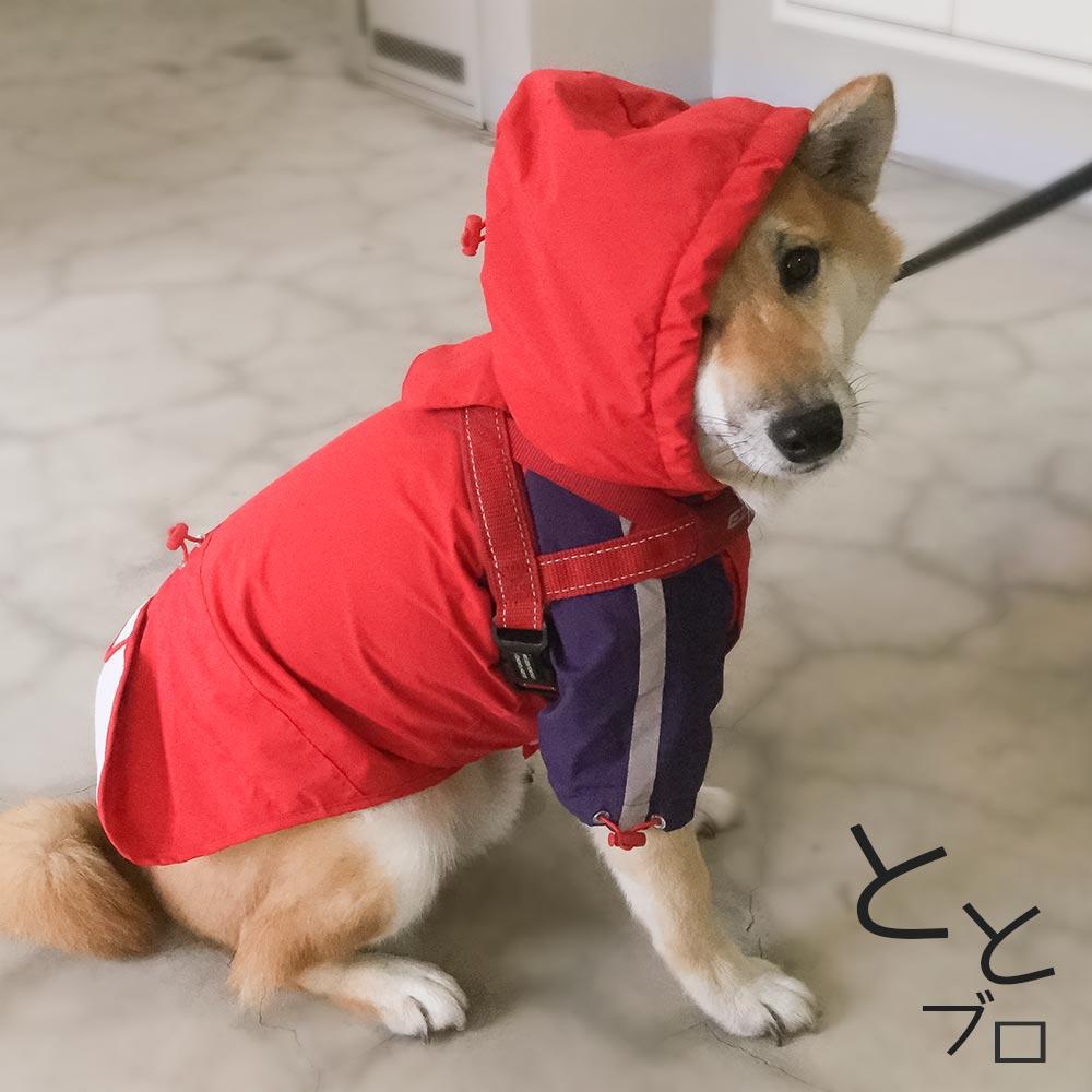 柴犬用おすすめカッパ(レインコート) 赤
