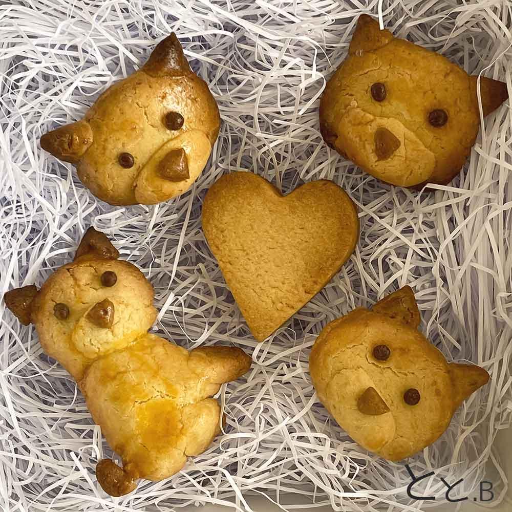 手作りの柴犬クッキー画像