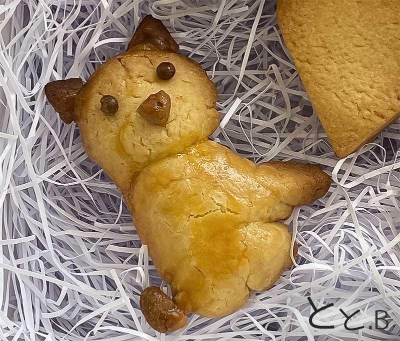 手作りの柴犬クッキー 全身バーション画像